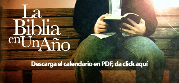Calendario para leer la Biblia en 1 Año Descarga el Calendario en PDF dando clic acá